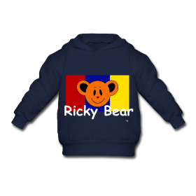 Ricky bear toddler hooded sweatshirt gray