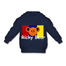 Ricky bear toddler hooded sweatshirt gray thumb200