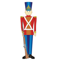 Toy Soldier Christmas Holiday Lifesize Cardboard Standup Standee Cutout New 898 - $39.95