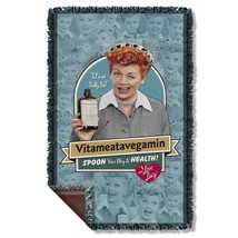 I LOVE LUCY WOVEN THROW BLANKET TAPESTRY LICENSED LB256-tap1 - €36,05 EUR