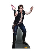 HAN SOLO HARRISON FORD STAR WARS RETOUCHED CARDBOARD STANDUP STANDEE CUT... - $39.95