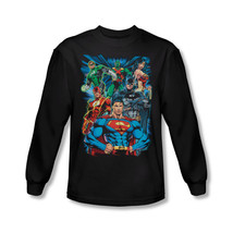 Justice League Adult Mens Long Sleeve L/S T Shirt New Jla359 Al - $25.99+