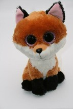 "Ty Beanie Babies Boos 9""  Buddy SLICK the Fox Pink Glitter Eyes Plush 2015 Toy - $8.37"