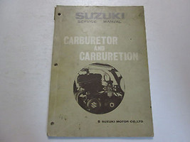 1974 Suzuki Carburetor & Carburetion Service Manual Stained Worn Factory Book 74 - $19.75