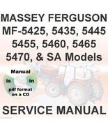 Massey Ferguson MF5425 MF5435 MF5445 MF5455 MF5460 MF5465 Tractor Servic... - $32.95