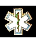 EMT EMS Lapel Pin Star Of Life Serpent Cap Pins... - $5.92