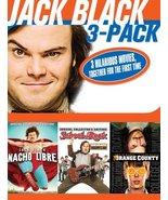 Jack Black 3-Pack: Nacho Libre/School of Rock/Orange County (used DVD bo... - $15.00