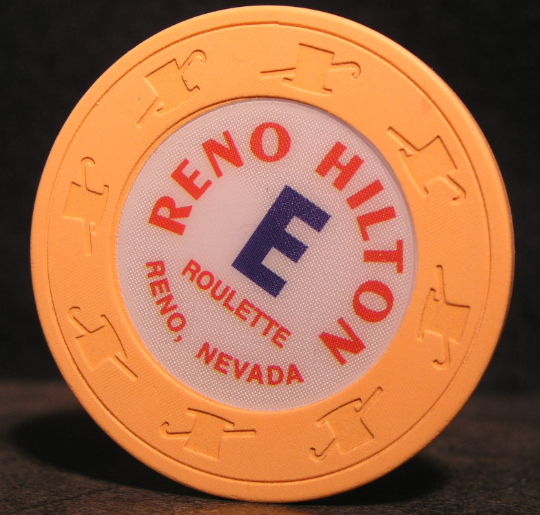 "Primary image for 1990's Near Mint Roulette Chip From: ""The Reno Hilton Resort""- (sku#3074)"