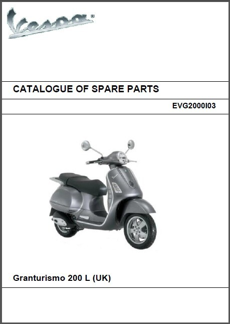 vespa gt200 workshop service repair manual
