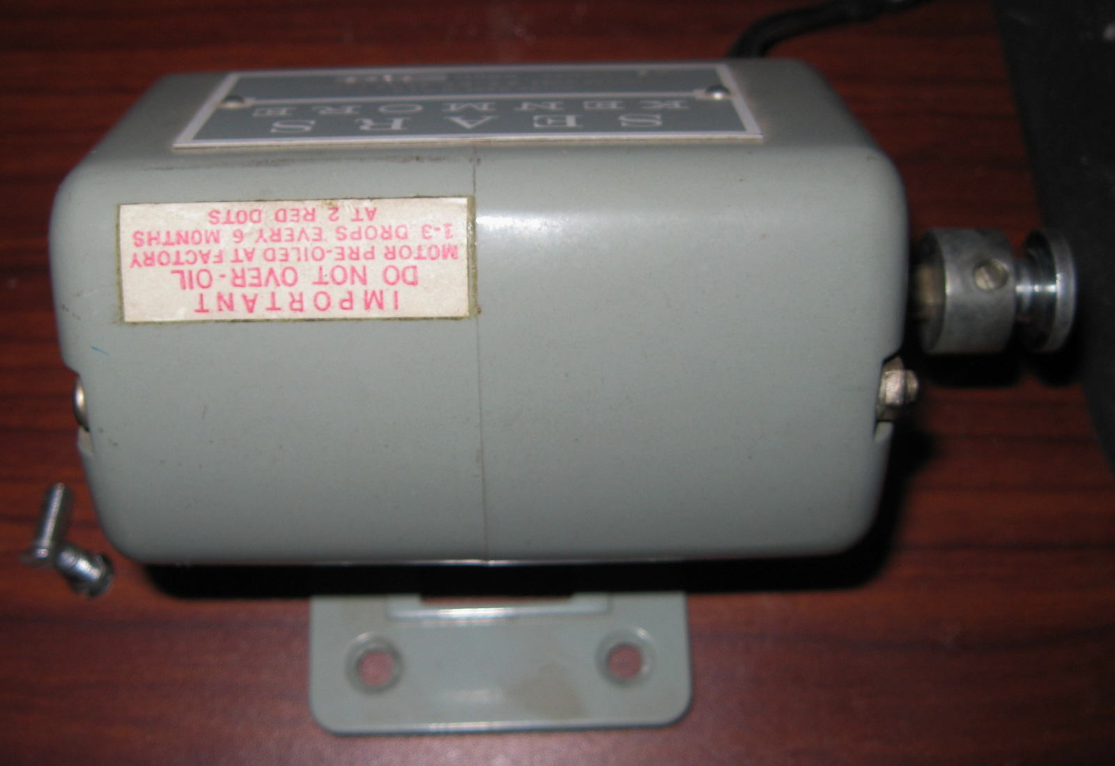 kenmore sewing machine motor