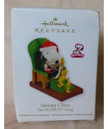 2011 The Peanuts Gang SNOOPY CLAUS Hallmark Keepsake Ornament w/BOX - $15.00