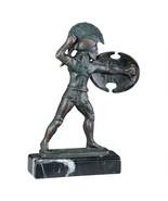 Spartan Hellenistic Hoplite Warrior Iron Statue Sculpture Replica Reprod... - $48.51