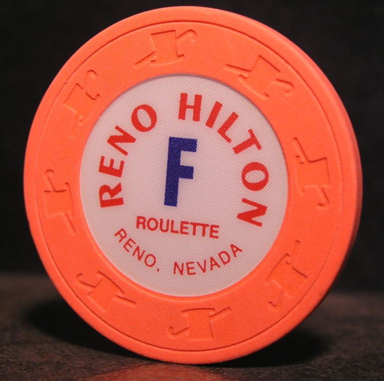 "Primary image for 1983 Roulette Chip From: ""The Reno Hilton Resort""- (sku#3077)"