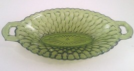 Green Honeycomb Oval 2 Handled Bowl~Pickle/Reli... - $13.98