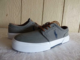 $59.00 Ralph Lauren Faxon Low Men's  Canvas Sneakers, Gray, US 7, D, - $44.33 CAD