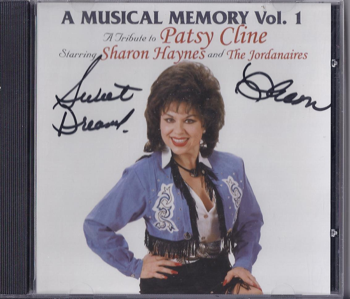 SHARON HAYNES & The JORDANAIRES Tribute to PATSY CLINE Vol 1 Cd, Autographed