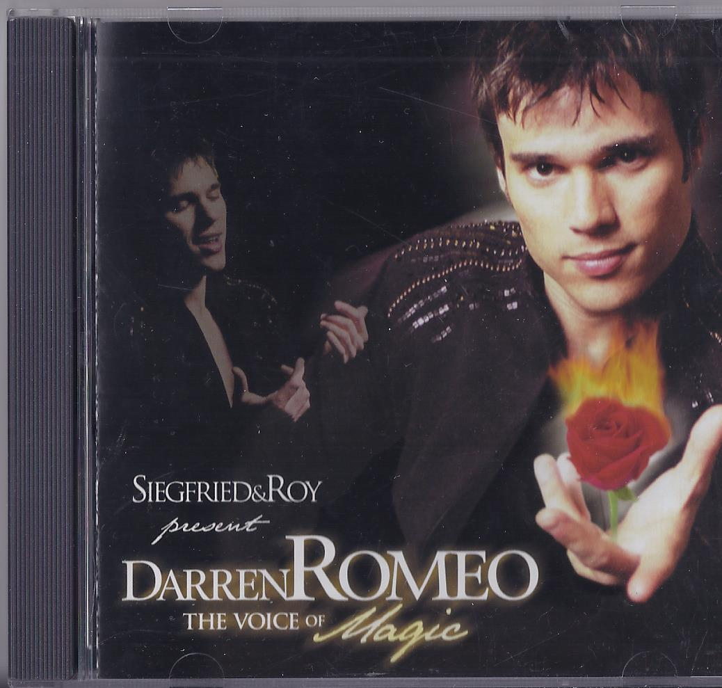 SIEGFRIED & ROY Presents DARREN ROMEO, The Voice of Magic Cd, Autographed