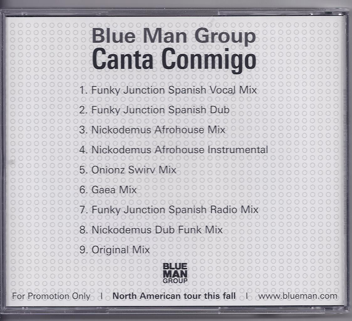 CANTA CONMIG0 - Blue Man Group Promotional CD, Brand New