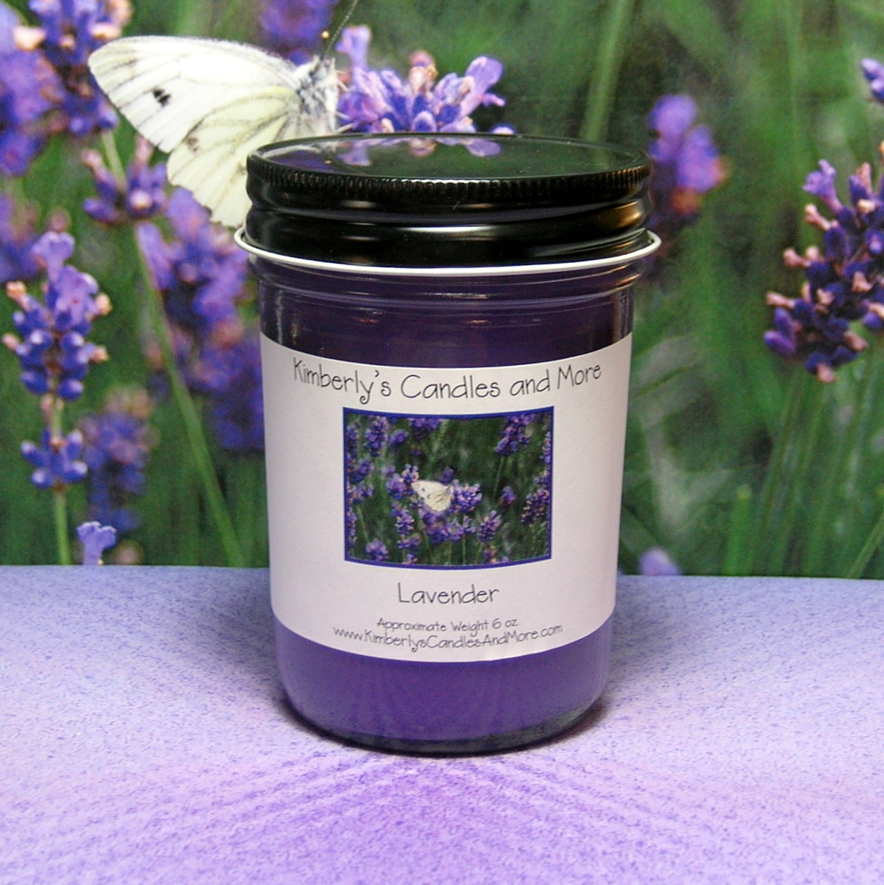 Jelly jar lavender 1