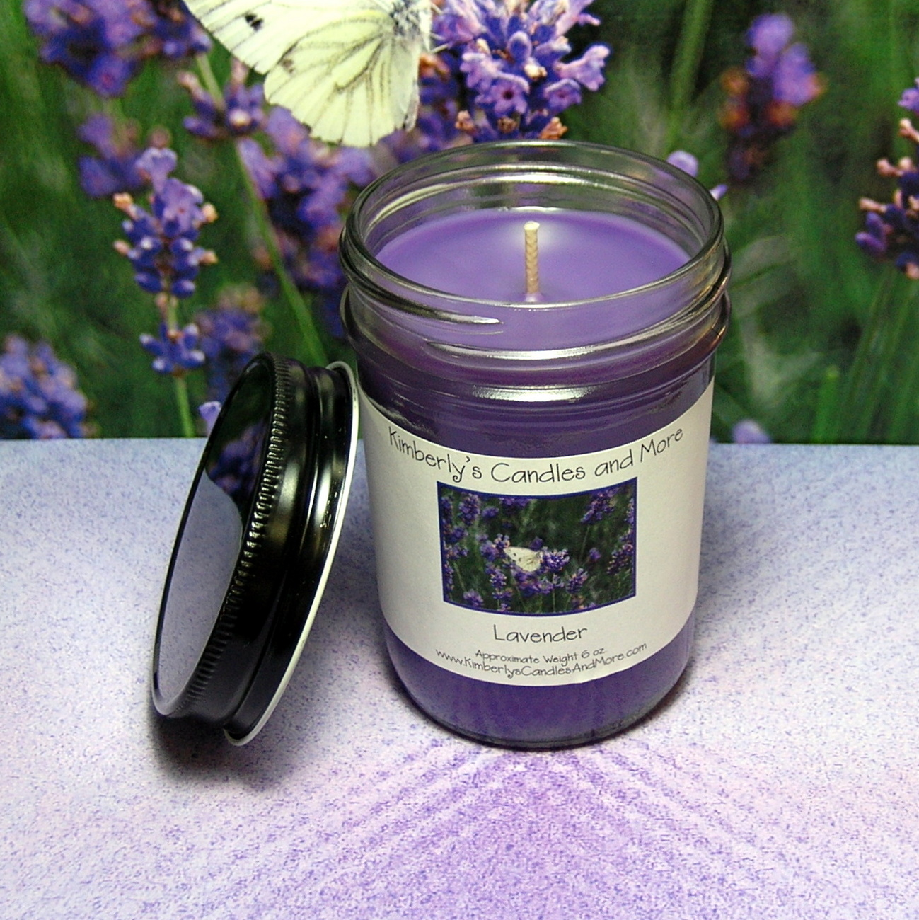 Lavender PURE SOY Jelly Jar Candle