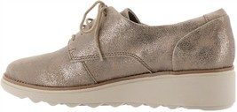 Collection Clarks Sharon Crystal Leather Oxford Pewter 7M NEW 649-243 - $134.73 CAD