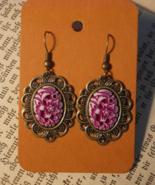 Flower Handmade Dangle Earrings New - $5.95