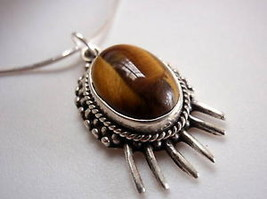 New Tigers Eye 925 Sterling Silver Necklace India - €17,21 EUR