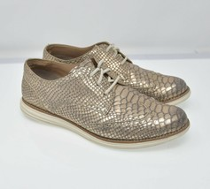 Cole Haan Lunarlon Lunargrand Women's Sz 8B Gold Scale Lace Up Comfort W... - $39.99