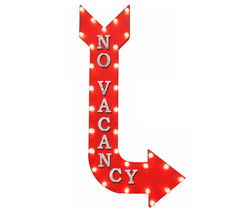 """48"""" Double Sided NO VACANCY Occupied Metal Arrow Marquee Light Up Open Sign - $594.00+"""
