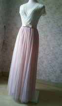 PINK Long Tulle Skirt Pink Bridesmaid Tulle Skirt Outfit Bow-knot image 6