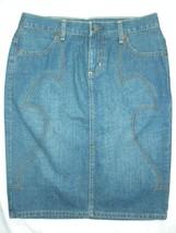 Guess Jeans Womens 27 Blue Denim Knee Length Pencil Skirt - $29.99