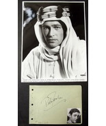 PETER O TOOLE (LAWRENCE OF ARABIA) ORIGINAL VINTAGE AUTOGRAPH (CLASSIC) WOW - $346.50