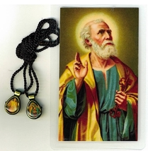 Necklace - Divine Mercy/.Perpetual Help Medal and Prayer Card - L161.0237 image 1