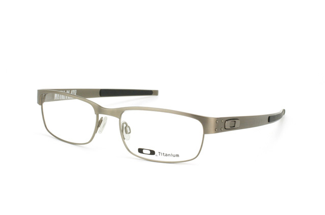 9f4abc0ee7 1. 1. Previous. New Authentic Oakley Metal Plate OX5038 06 Brushed Chrome  55mm Eyeglass Frame