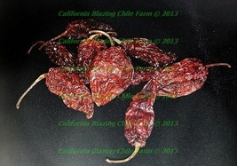 2 ounce Whole Dried Ghost Pepper Insanely HOT! - $13.50