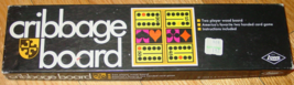 CRIBBAGE BOARD GAME ES LOWE 1968 EXCELLENT - $15.00