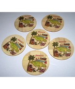 Jamaica Handcrafted Bamboo Wood Table Placemats Coasters With Wooden Holder - $55.00