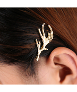 Deer Fairy Gold Antler Bobby Pin Hair Pin. Woodland Wedding Hair Piece. ... - $13.90