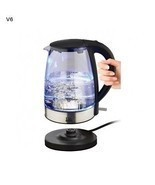 Cordless Electric Kettle 1.7 Liters Cool Touch Glass Coffee Chocolate Te... - ₨6,090.83 INR