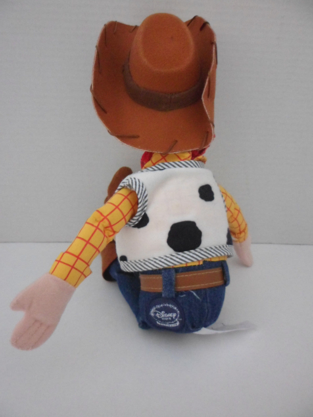 "Toy Story SHERIFF WOODY Cowboy Plush Stuffed Doll Disney Store  16 "" Tall"