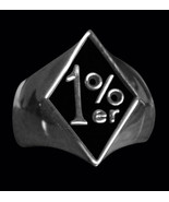 1%er Stainless Steel Outlaw Biker Ring Sizes 7 8,9.10,11, 12,13,14,15, S... - $16.50