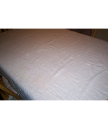 Damask white open weave tablecloth - $10.87