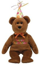 Ty Happy Birthday Bear. TY Beanie Baby – HAPPY BIRTHDAY the Bear 2008 Br... - $29.28