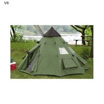 Teepee Tent Survival Camping Polyester Tee Pee Screened Doors 10' X 10' ... - $188.82