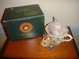 Boyds Bearstone Votive Holder Ms. Bruin & Bailey Tea Time, 27751 - $10.99