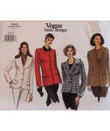 Vogue 1643 Jacket Pattern Four Classic Options Misses SZ 18-22 Uncut FF ... - $26.43