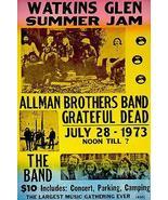 Allman Brothers - Grateful Dead - The Band - 1973 - Watkins Glen Concert... - $14.99+