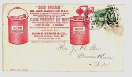 Varick Co advertising cover hardware Manchester NH fancy 1888 postal ant... - $14.00