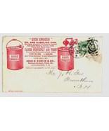 Varick Co advertising cover hardware Manchester NH fancy 1888 postal ant... - £10.27 GBP