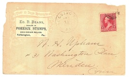 Beans stamps Indian relics advertising cover postal 1881 Fallsington PA ... - $19.00